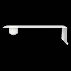 SHELVE01 W. BOWL | White Right