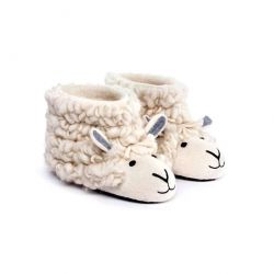 Adult Slippers Shirley Sheep | White