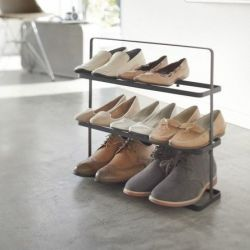 Shoe Rack Wide Tower | Black