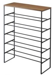 Shoe Rack Wood Tower | Black