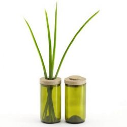 Vase & Glas | Grün
