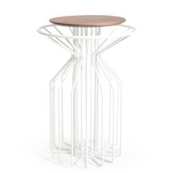 Amarant Side Table | White