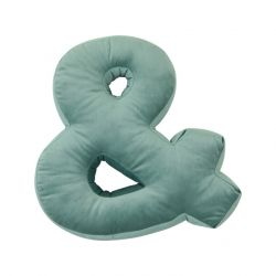 Cushion Letter Velvet Mint | &