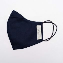 Premium Face Mask | Navy Silver