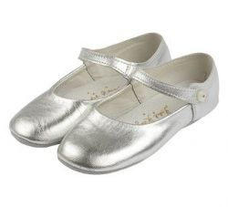 Silver Leather Party Shoe/Slipper