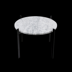 Side Table Deck Single | White Carrara & Black