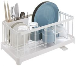 Sink Drainer Wire Basket Tower | White