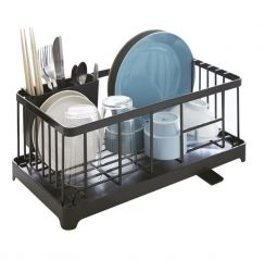 Sink Drainer Wire Basket Tower | Black