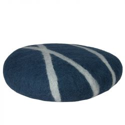 Cushion Sirani Stone XL | Petrol/White