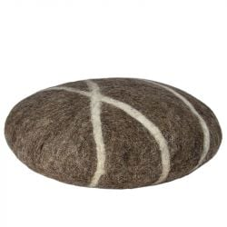 Cushion Sirani Stone | Brown/White