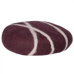 Cushion Sirani Stone | Winered/White