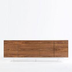Schrank 3 Türen & 3 Schubladen Siviglia | Nussbaum & Mattweiß