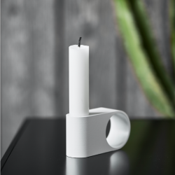 Munus Candle Holder | White