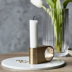 Munus Candle Holder | Brass