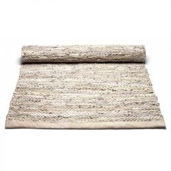 Leather Rug | Beige