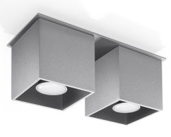 Deckenlampe Quad 2 | Grau