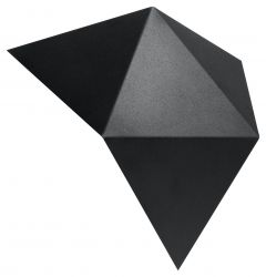 Wandleuchte Solido | Schwarz