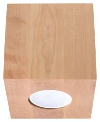 Deckenlampe Quad | Holz
