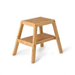Hocker mit Lamellen | Bambus