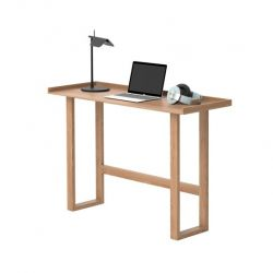 Laptop Writing Table Slim | Light Wood