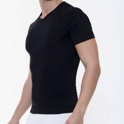 Slimming Effect T-shirt Men | Black