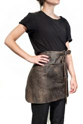Short Waist Apron Belmondo Small | Dark Brown