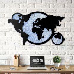 Wanddekoration Weltkarte String