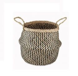 Ekuri Basket Small | Black and Natural