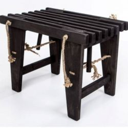 Outdoor EcoBench 60 Pine Wood | Black