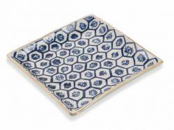Quadratischer Teller Masai Klein | Blau