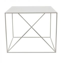 Small X Coffee Table | White