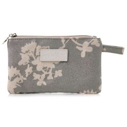 Small Make Up Bag Japan Silver Glitter