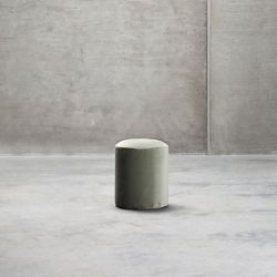 Small Pouf | Green Velvet