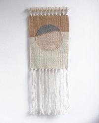 Small Sun 1 Wandkleed | Wit, Bruin & Beige