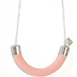 Smile Necklace Raspberry
