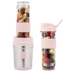 Mini Blender met 2 Drinkflessen | Pastelroze