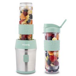 Mini Blender met 2 Drinkflessen | Pastelgroen