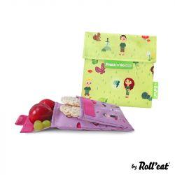 Mehrweg-Snackbeutel Snack'n'Go Duo Kids Forest | Grün