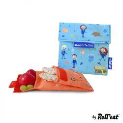 Wiederverwendbare Snack-Tasche Snack'n'Go Duo Kids Ocean | Blau