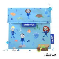 Wiederverwendbare Snack-Tasche Snack'n'Go Kids Ocean | Blau