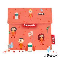 Mehrweg-Snackbeutel Snack'n'Go Kids Space | Orange