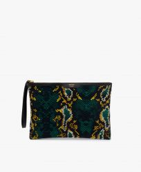 Snakeskin Velvet Night Clutch