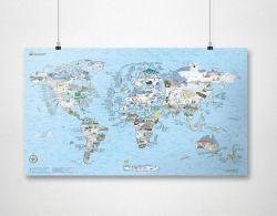 Wiederbeschreibbare Weltkarte | Schneefahrt