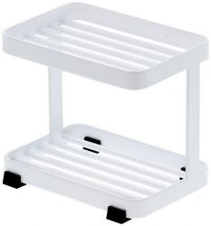 Soap Tray 2 Tiers Tower | White