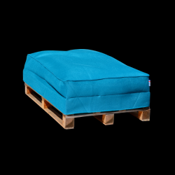 Pouf Sofa Palette 120 x 80 cm | Bleu