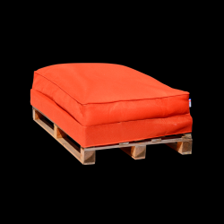 Beanbag Pallet Sofa 120 x 80 cm | Orange