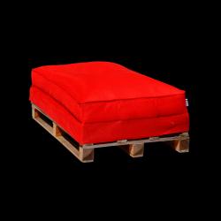 Pouf Sofa Palette 120 x 80 cm | Rouge