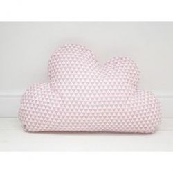 Cloud Pillow | Pink Triangles