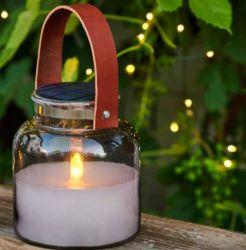 Solar Lantern Jar Adam Magnum H 16 cm | Black