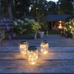 Solar Lighting in Jar | Set of 3